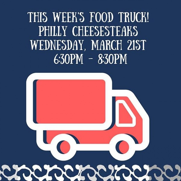 Dear residents and friends,  Don't forget we have Philly Cheesesteak tomorrow Wednesday March 21st 2018 from 6:30pm to 8:30pm weather permitting.  Please show your support as we want to continue having a food truck every week!