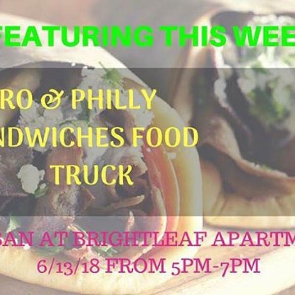 Hi friends,  Save the date!  This Wednesday we have A1 Gyro and Philly Sandwiches Food Truck from 5pm-7pm in front of our leasing office.  Warm regards,  Team Artisan At Brightleaf  #ArtisanatBrightleaf  #Lovewhereyoulive #HugryDayHumpDays #WednesdayFoodTruck #BrightleafCommunity #GreystarRocks #RDULiving #Durham #StayFit