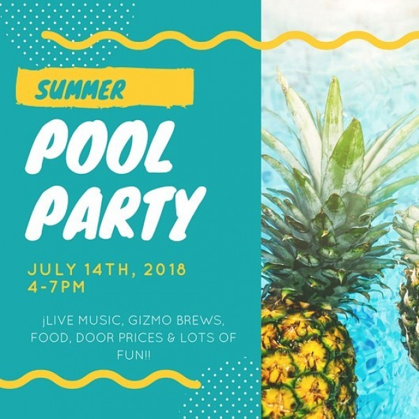 Hi everyone!  We hope everyone is excited for our pool party as much as we are! We are having a delicious menu from QSpressoCubanos Food Truck! - http://www.qspressocubanos.com/menu  Live & Local Band: Solar Bear by Jared Place Music – Pop/rock/soul - http://www.jaredplacemusic.com/  Adult beverages from Gizmo Brew Works -  https://www.facebook.com/GizmoBrewWorks/  Don't forget to get a wrist band when you get get a chance (one guest per apartment)  We will see everyone tomorrow from 4-7pm.  Warm regards,  Team Artisan at Brightleaf