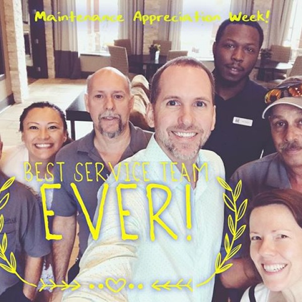 Maintenance appreciation week! Thank you Mike, Keith, and Brian for all your hard work as you go above and beyond every day to keep our residents happy! If you see one of them don't forget to say hi and thank you!
