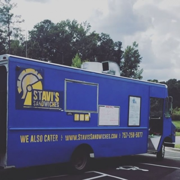 Stavis Sandwiches Food Truck is here everyone!! Stop by the office from 5-7pm and pick up some delicious dinner! @stavissandwiches @artisanatbrightleaf @brightleafhomes #humpdaysarethebest #durhamliving #sandwiches #desserts #salads #soups